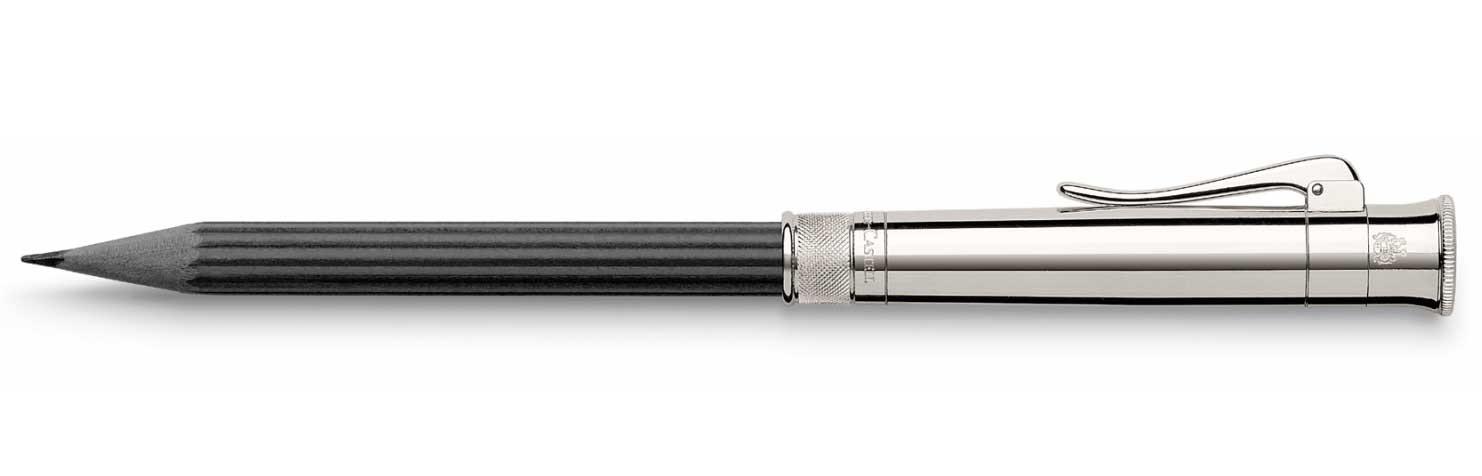 Черный короткий карандаш №V с платиновым напылением