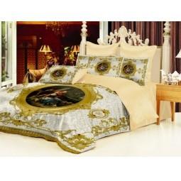 Комплект постельного белья Барокко. 1,5-спальный, белый