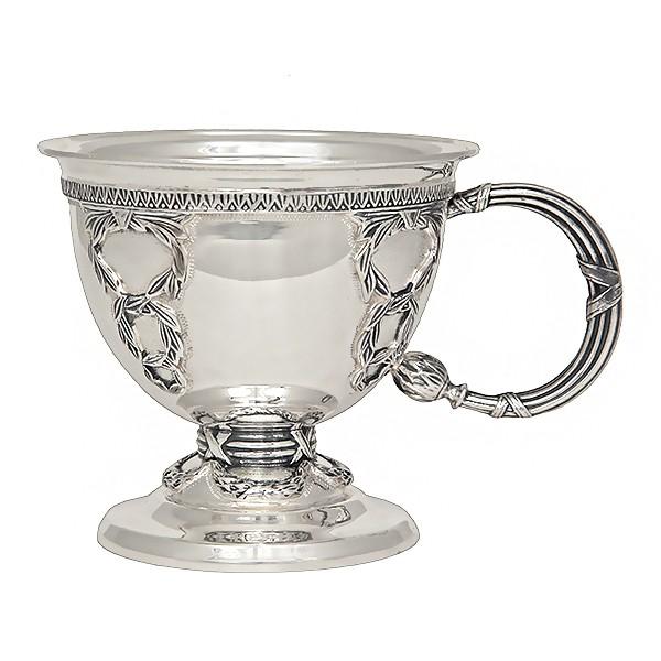 Серебряная чайная чашка Царская