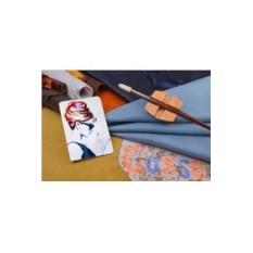 Горизонтальный кардхолдер-книжка из кожи Крутая Одри