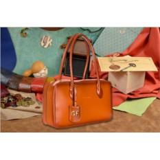 Кожаная коричневая сумка Giorgio Ferretti