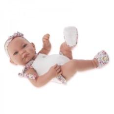 Кукла-младенец Ника в белом Munecas Antonio Juan