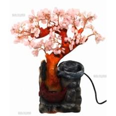 Настольный фонтан Розовое Дерево (35 см, подсветка)