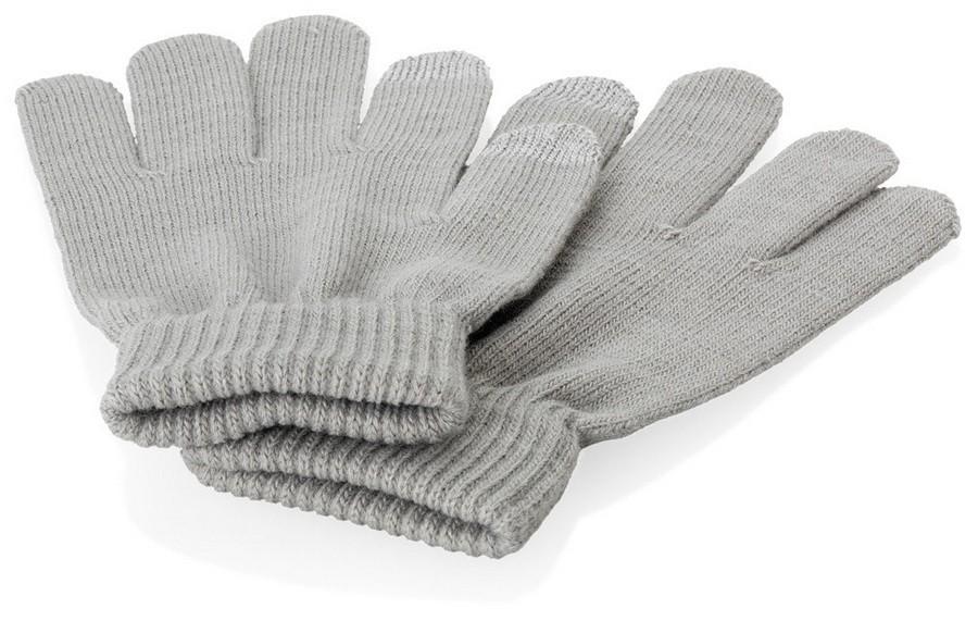 Перчатки для сенсорного экрана, серые, размер L/XL