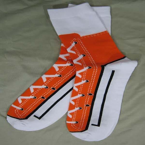 Оранжевые носки-кеды