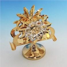 Золотистая салфетница с кристаллами