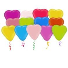 Латексные шары под потолок Сердца ассорти