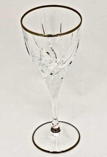 Набор из 6 бокалов для вина 250 мл Cre Art Отводка, платина