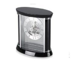 Настольные серебристо-черные часы