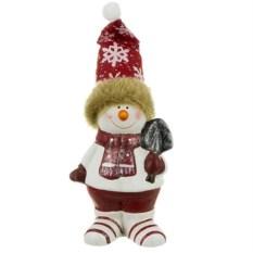 Фигурка Снеговик в колпаке
