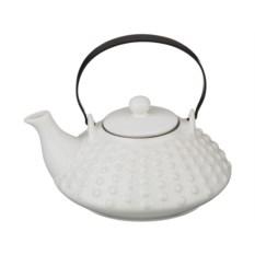 Белый заварочный керамический чайник, объем 800 мл