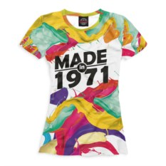 Женская футболка Print Bar Made in 1971