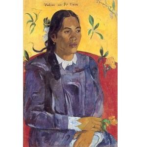 Репродукция картины Женщина с цветком