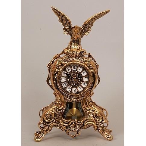 Часы каминные бронзовые с маятником с орлом