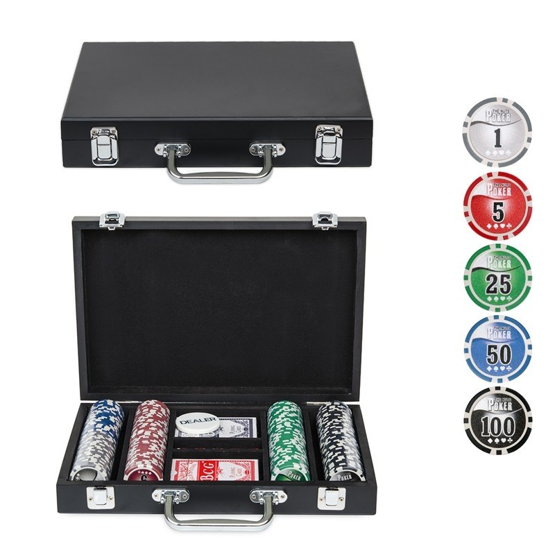 Набор для покера Wood на 200 фишек