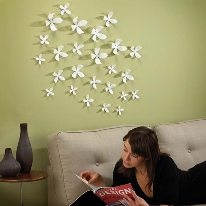 Декор для стен Wall flower белый