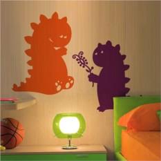 Интерьерная наклейка Цветные умильные динозаврики