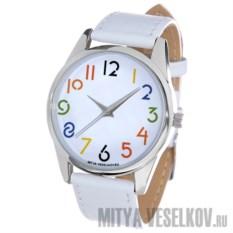 Часы Mitya Veselkov Разноцветные цифры