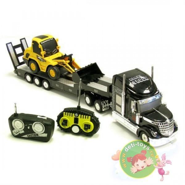 Радиоуправляемый грузовик с трактором