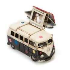 Ретро-модель Черно-белый автобус с фоторамкой и копилкой