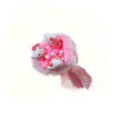 Букет из мягких игрушек Котята (3 шт., цвет — розовый)