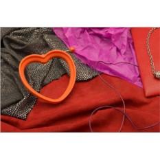 Оранжевая форма для жарки яичницы Сердце