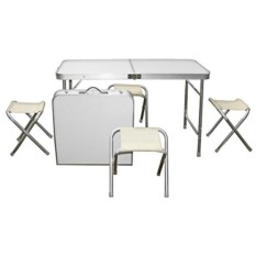 Набор туристической мебели: стол и четыре стула
