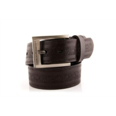 Темно-коричневый мужской кожаный ремень G.Ferretti тип 60-7