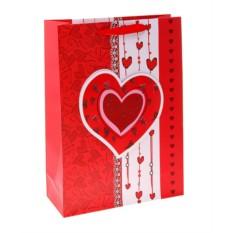 Ламинированный пакет Сердце висюльки, 10х26х32 см