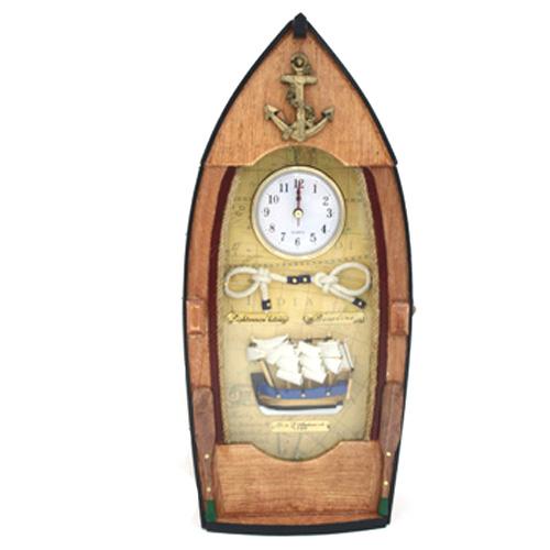 Часы-коллаж настенные «Лодка»