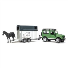 Набор Внедорожник с прицепом-коневозкой и лошадью