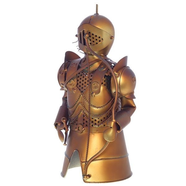 Декор бутылки из металла Рыцарь с луком