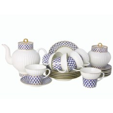 Фарфоровый чайный сервиз на 6 персон Волна