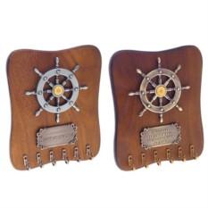 Ключница со штурвалом и табличкой-напоминанием