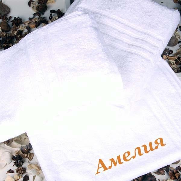 Набор белоснежных полотенец Лотос