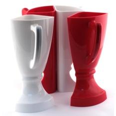 Кубок 4 бокала бело-красный