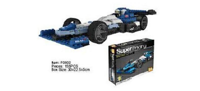 Конструктор Super Racing из 156 деталей