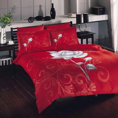 Постельное белье Elite Liana red
