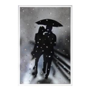 Картина Swarovski «Влюблённые под дождём»