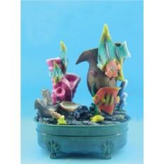 Декоративный фонтан Морское дно: рыбки, кораллы, кувшин