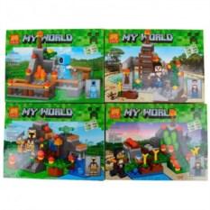 Комплект из 4 конструкторов Lele Minecraft, 409 деталей