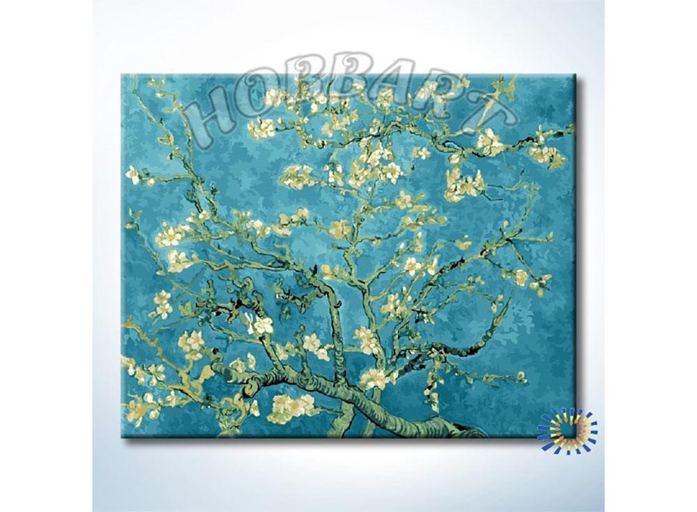Картины по номерам «Цветы миндаля»