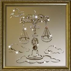 Картина с кристаллами Сваровски Весы