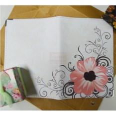 Кожаная обложка на паспорт Цветы розовые