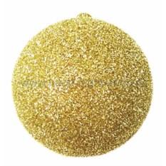 Елочная игрушка Шар с блестками золотого цвета