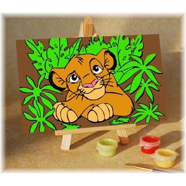Раскраска по номерам для детей Король Лев