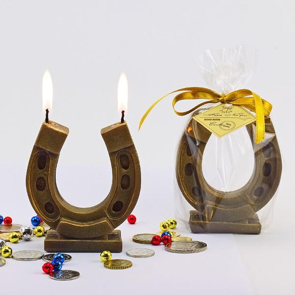 Декоративная свеча Подкова