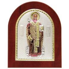 Икона Николай Чудотворец, угодник Божий, серебро, золото