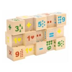 Кубики Математика (неокрашенные, 15 штук)