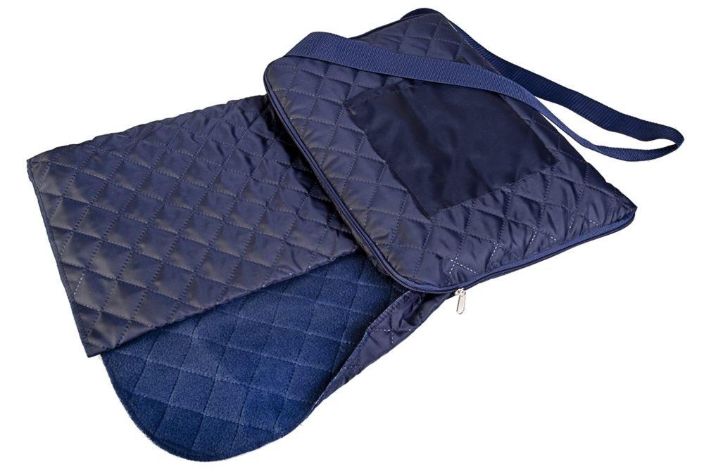 Темно-синий плед для пикника Soft & dry